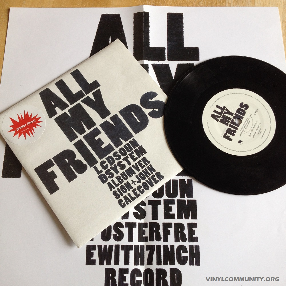 LCD Soundsytem All My Friends John Cale version 7 inch record
