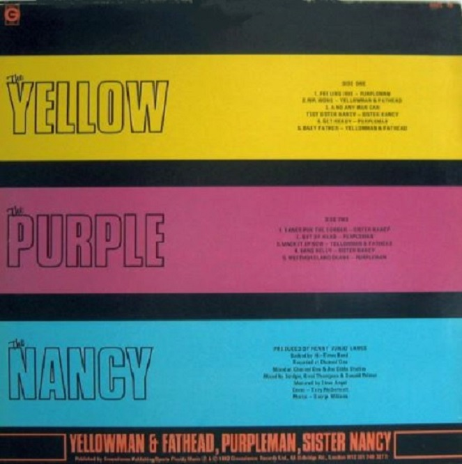 Yellowman & Fathead, Purpleman, Sister Nancy album The Yellow, The Purple, The Nancy