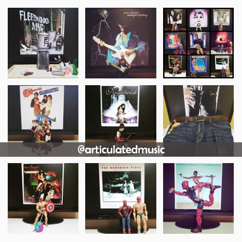 Creative recreations of record covers using action figures on Instagram by articulatedmusic