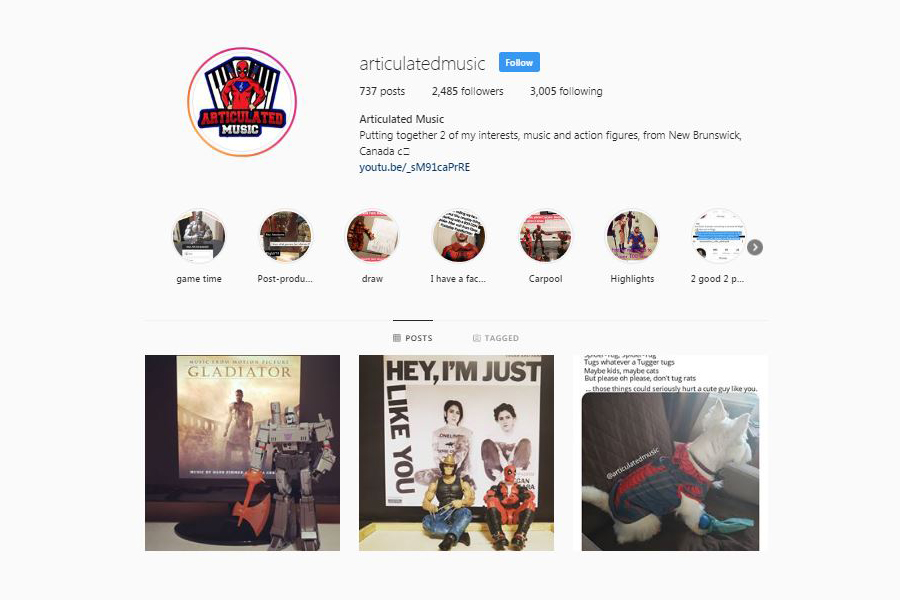 Action figure and vinyl collecting account articulatedmusic. One of Instagram's creative record collectors.