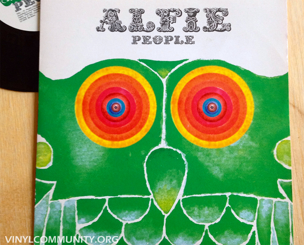 Alfie People 7 inch vinyl indie record with Masquerade and Baddie