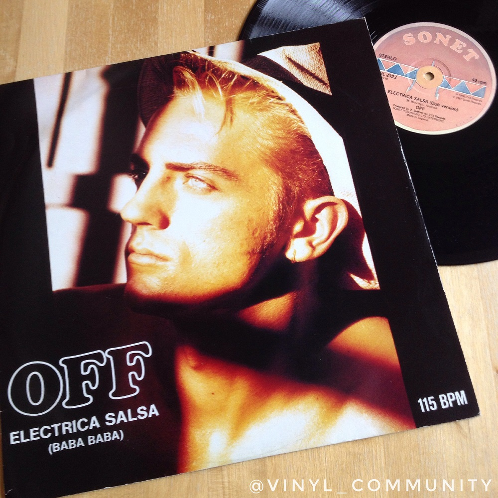 Off Electrica Salsa (Baba Baba) 12 inch vinyl record. Sven Vath and Snap! Balearic New Beat Ibiza anthem