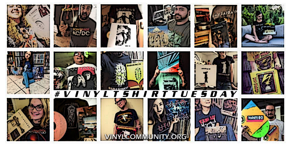 Band T-shirts and records on Vinyl T-shirt Tuesday #vinyltshirttuesday