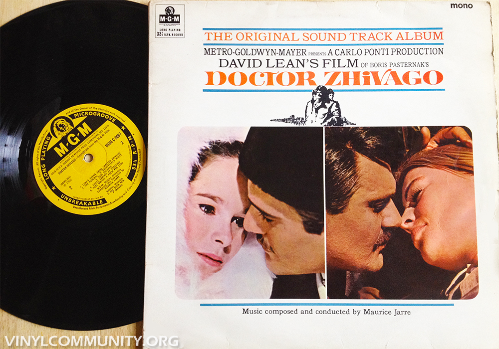 Doctor Zhivago Original Soundtrack by Maurice Jarre on vinyl