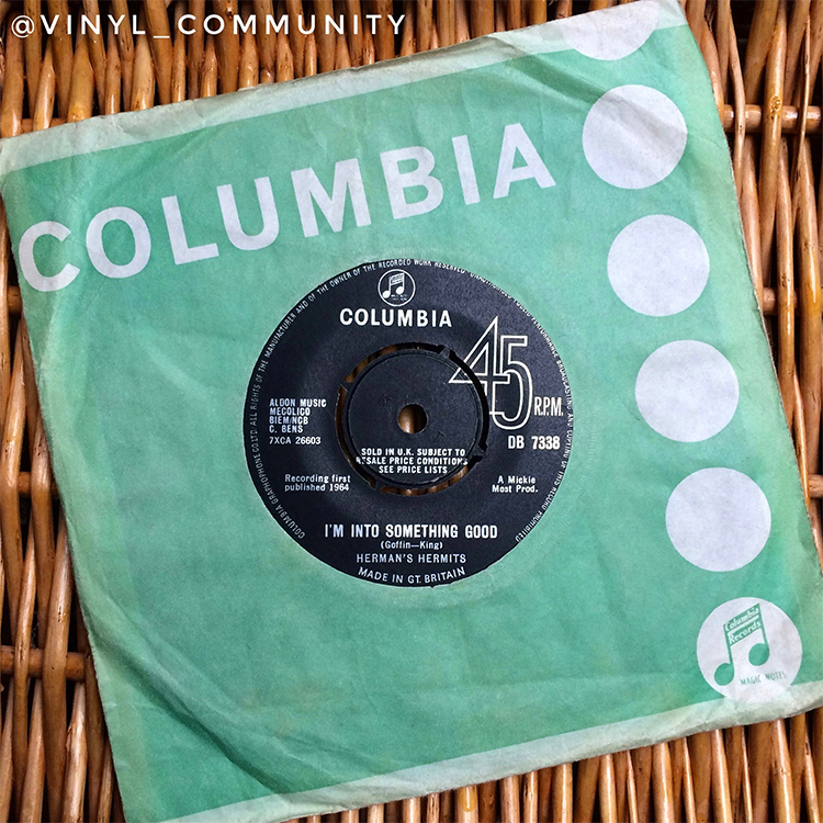 Herman's Hermits I'm Into Something Good 45 vinyl 1960's pop
