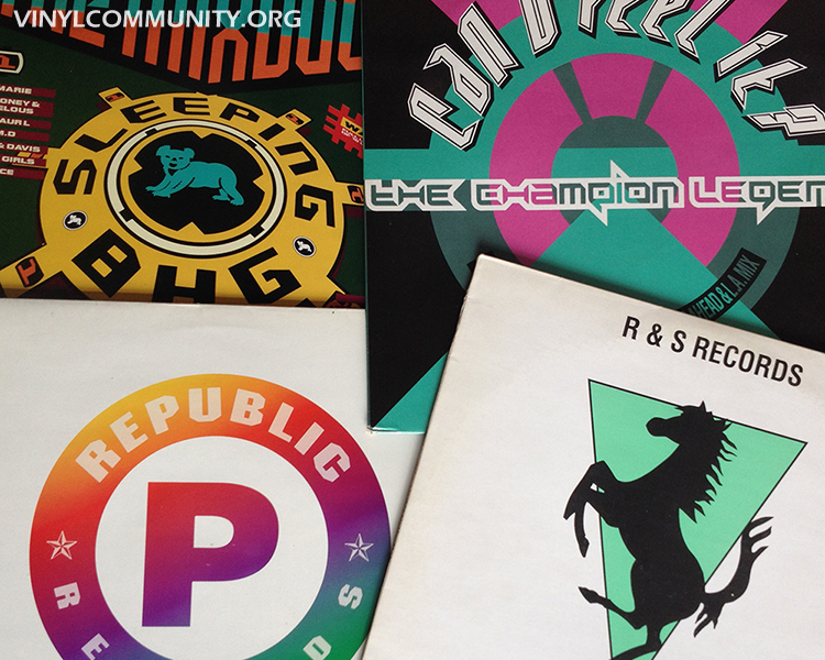 LPs from record labels featured various tracks from their own artists
